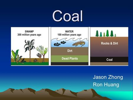 Coal Jason Zhong Ron Huang. Introduction Coal is a nonrenewable energy source. It's a combustible black or brownish-black rock composed mostly of carbon.