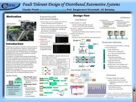 Introduction Designing cost-sensitive real-time control systems for safety-critical applications requires a careful analysis of the cost/fault-coverage.