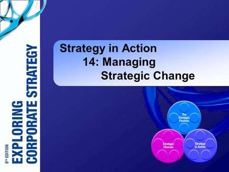 Strategy in Action 14: Managing Strategic Change.