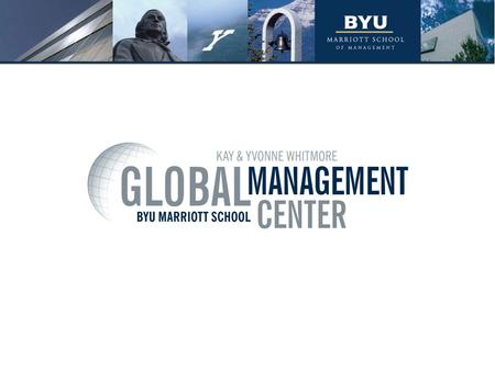 International Business in the MBA Program 3 Curriculum Design Current Options Why International Business? Take advantage of your background and expertise.