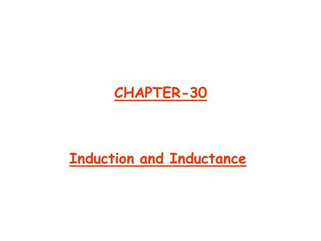 CHAPTER-30 Induction and Inductance. Ch 30-2 Two Experiments  First Experiment: An ammeter register a current in the wire loop when magnet is moving.