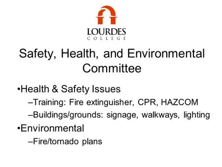 Safety, Health, and Environmental Committee