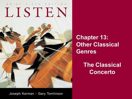 Chapter 13: Other Classical Genres