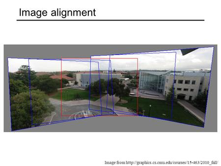 Image alignment Image from