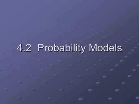 4.2 Probability Models. We call a phenomenon random if individual outcomes are uncertain but there is nonetheless a regular distribution of outcomes in.