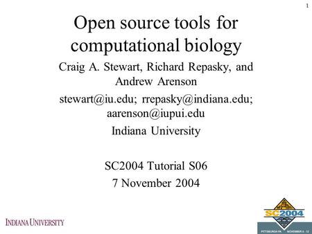 Open source tools for computational biology