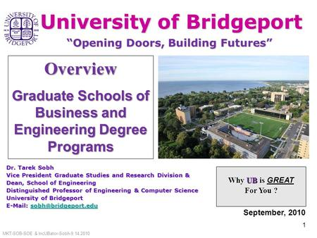 Graduate Schools of Business and <strong>Engineering</strong> Degree Programs