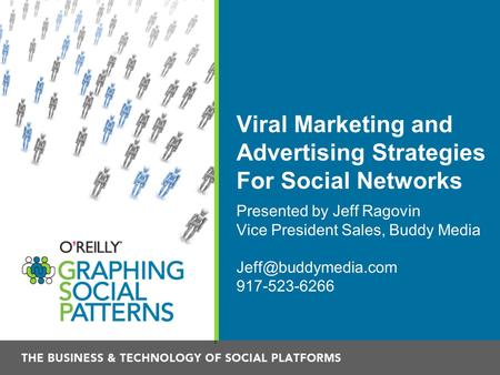 Viral Marketing and Advertising Strategies For Social Networks Presented by Jeff Ragovin Vice President Sales, Buddy Media 917-523-6266.