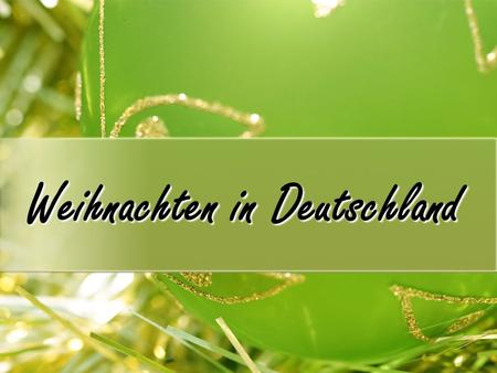 Weihnachten in Deutschland. What are the important dates? Advent Advent is the first Sunday after November 26 th. This year it fell on November 27th.