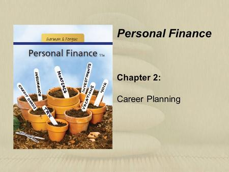 Chapter 2: Career Planning Personal Finance. Learning Objectives Identify the key steps in successful career planning. Clarify your work-style personality.