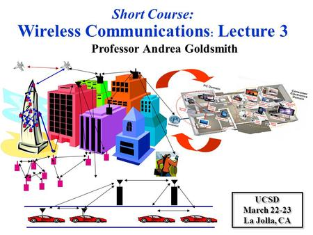 <strong>Wireless</strong> Communications: Lecture 3 Professor Andrea Goldsmith
