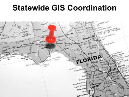 Statewide GIS Coordination. Review of GIS stakeholders strategic plan State CIO office's strategic plan sets goals for GIS office and council effective.