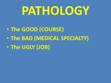 GENERAL AND SYSTEMIC PATHOLOGY - ppt download