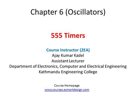 Chapter 6 (Oscillators)