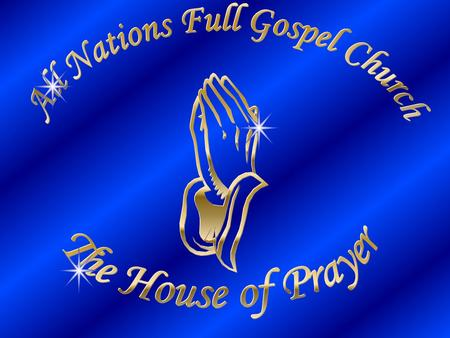 Vision of ANFGC All Nations Founded in 1982 Currently has churches in eight nations Vision of the Church base on Five-fold Mission Statement.