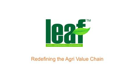 Redefining the Agri Value Chain