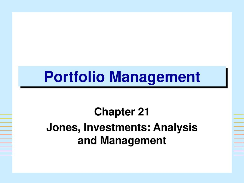 Investment analysis and portfolio management chapter 13 ppt templates programmers investment corporation