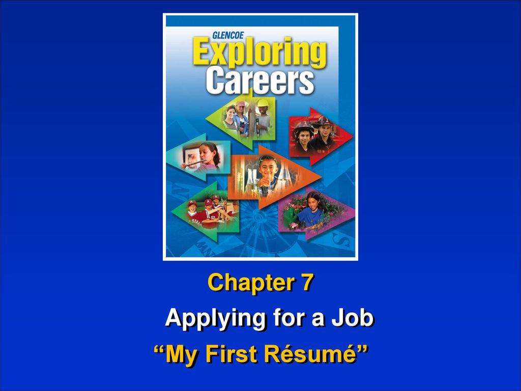 "Applying for a Job ""My First Résumé""   ppt download"