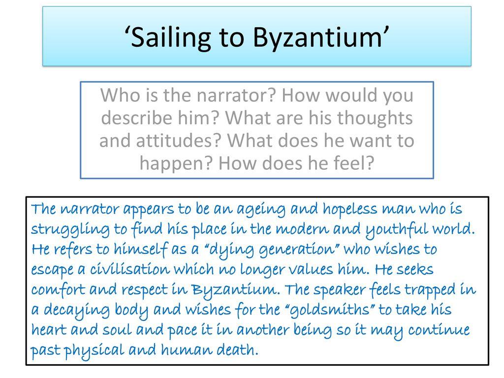 Sailing To Byzantium Ppt Download Paraphrase