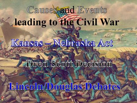 leading to the Civil War Lincoln/Douglas Debates