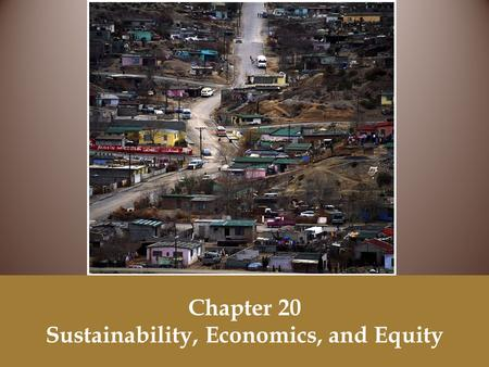 Chapter 20 Sustainability, Economics, and Equity.