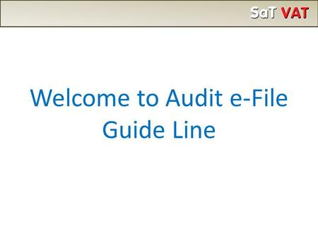 "Welcome to Audit e-File Guide Line. Click on ""Form 217 - Audit"""