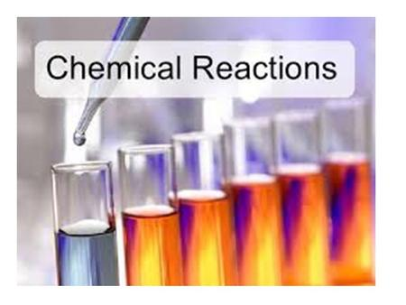 Chemical reactions are occurring around us all the time