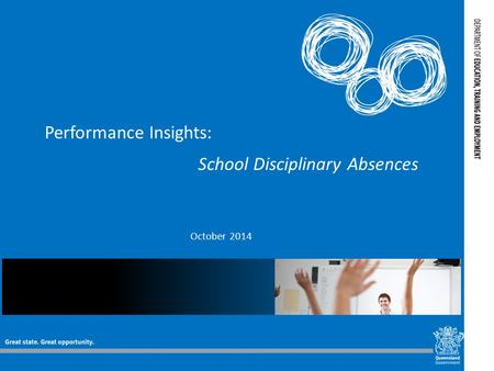 Performance Insights: School Disciplinary Absences October 2014.