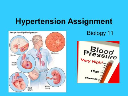 Hypertension Assignment