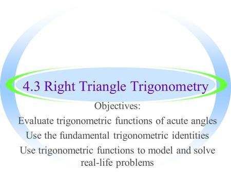 trigonometry in real life