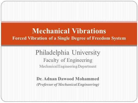 Dr. Adnan Dawood Mohammed (Professor of Mechanical Engineering)