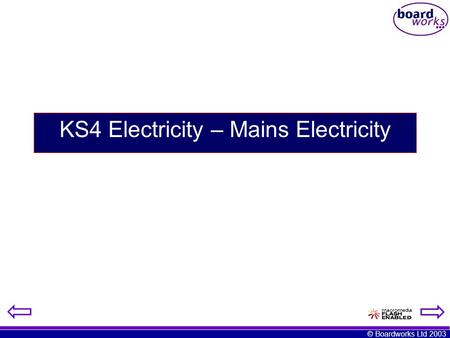 KS4 Electricity – Mains Electricity
