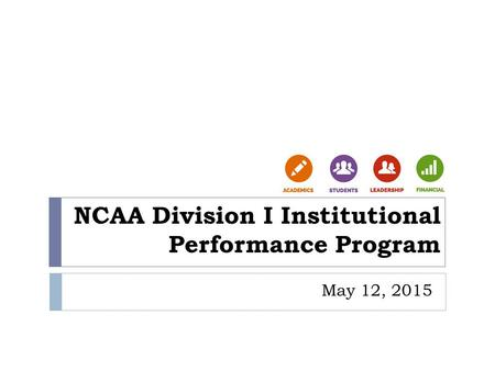 NCAA Division I Institutional Performance Program