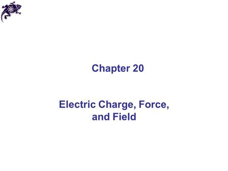 Electric Charge, Force, and Field