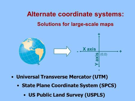 Alternate coordinate systems: Solutions for large-scale maps