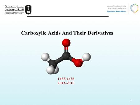 1435-1436 2014-2015 Carboxylic Acids And Their Derivatives 1.