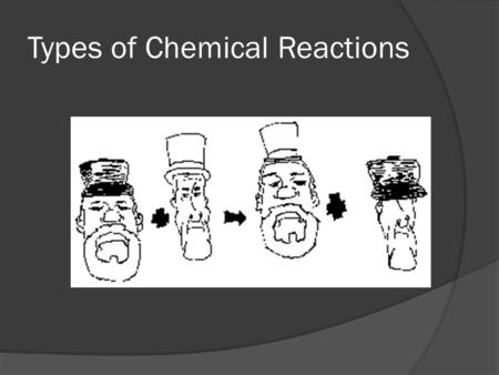 Types of Chemical Reactions.  There are only five (5) different types of chemical reactions: 1) Double Replacement 2) Single Replacement 3) Synthesis/Formation.