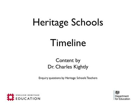 Enquiry questions by Heritage Schools Teachers
