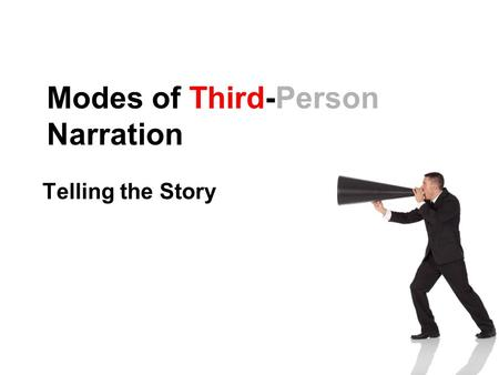 Modes of Third-Person Narration Telling the Story.
