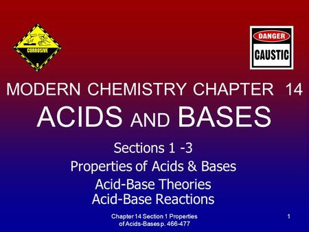 MODERN CHEMISTRY CHAPTER 14 ACIDS AND BASES