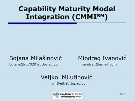 6  Capability Maturity Model Integration (CMMI) - ppt download