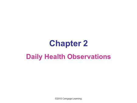 Daily Health Observations