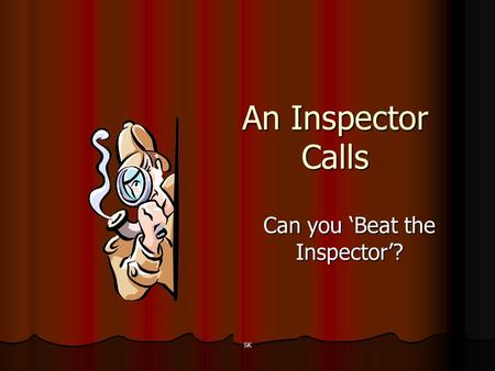 Can you 'Beat the Inspector'?