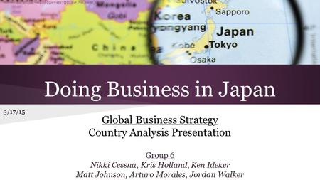 Doing <strong>Business</strong> in Japan