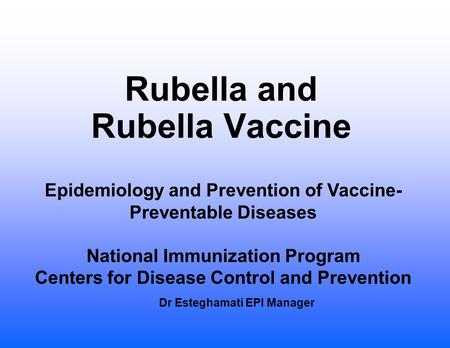 epidemiology of rubella A serosurvey for measles, mumps and rubella was conducted in italy incidence based on statutory notifications over the last three decades was also calculated.