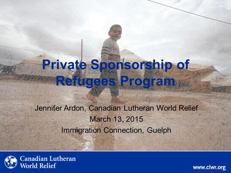 Private Sponsorship of Refugees Program