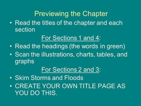 Previewing the Chapter