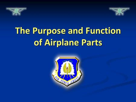 The Purpose and Function of Airplane Parts