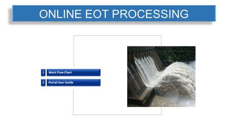 ONLINE EOT PROCESSING 1 1 Work Flow Chart 2 2 Portal User Guide.