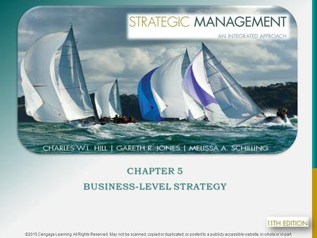 Chapter 5 Business-Level Strategy